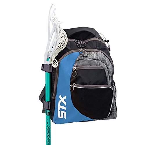 STX Lacrosse Sidewinder Lacrosse Backpack, Black/Columbia