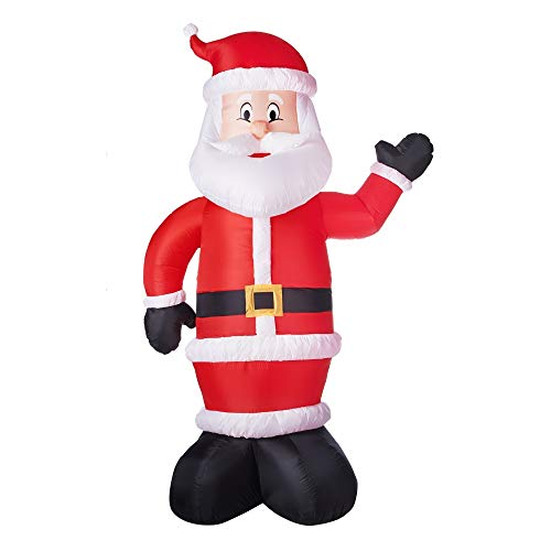 Holiday Time Christmas Gemmy Industries Airblown Inflatable Santa, 10'