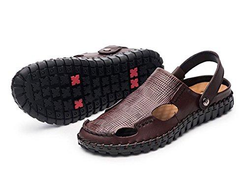 Zapatos Sandalias Playa Al Hombres para Aire De Sandalias Libre Brown HUwqZ6dxx