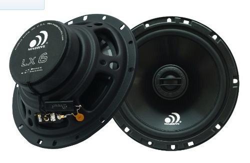 "Massive Audio LX 6 6-1/2"" 2-Way LX Series Coaxial Car Audio Speakers"