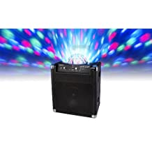 ION Block Party Rechargeable Portable Speaker System with Party Lights