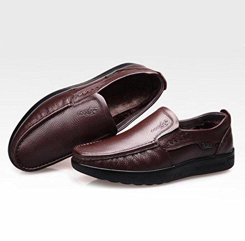 En Les Coton Antidérapantes Respirantes Chaudes Des Cachemire Décontractées Usent Cachemire Et GRRONG Chaussures Cuir De Brown Chaussures En Hz4ddq
