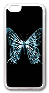 iphone 6 plus Case and Cover -Butterfly fringe TPU Silicone Rubber Case Cover for iphone 6 plus and iphone 6 plus 5.5 inch Transparent