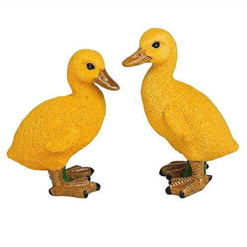 - IFUNEYS Duck Figurine Garden Statue Outdoor Lawn Yard Decor, Fairy Garden Accessories (a Pair)