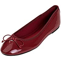 Feversole Women's Macaroon Colorful Memory Cushion Insock Patent Ballet Flat