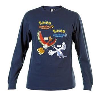 Mx Games Camiseta Pokemon Oro Y Plata Azul Marino Manga Larga (Talla: 5-6 años): Amazon.es: Deportes y aire libre