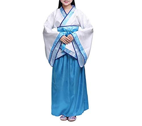 zhruiqun Kids Fancy Dress Halloween Costumes Girls Traditional Hanfu (M Blue)