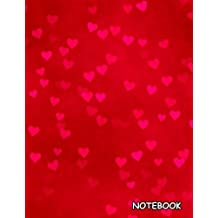 Notebook: Valentine Hearts, Blank Unlined / Non-ruled Notebook - (Letter size 8.5 x 11 Inches) 100 Pages - 291