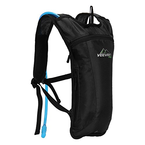 11a98c2582fb Veevanpro Hydration Pack with 2L Water Bladder for Outdoor Activities Black