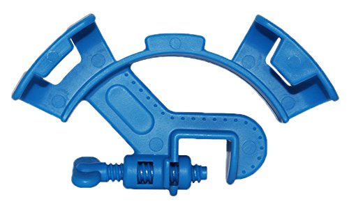 shen chou Aquarium Hose Holder, 2 PCS Multi-Function Blue Plastic Adjustable Fish Tank Filter Filtration Bucket Mounting Clip for 8-16mm Inflow Outflow Water Pipe/Tube Firmly Hold The Hose