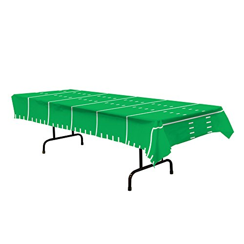 Plastic Table Cover Football Field Party Buffet Game Day Tablecloth ()