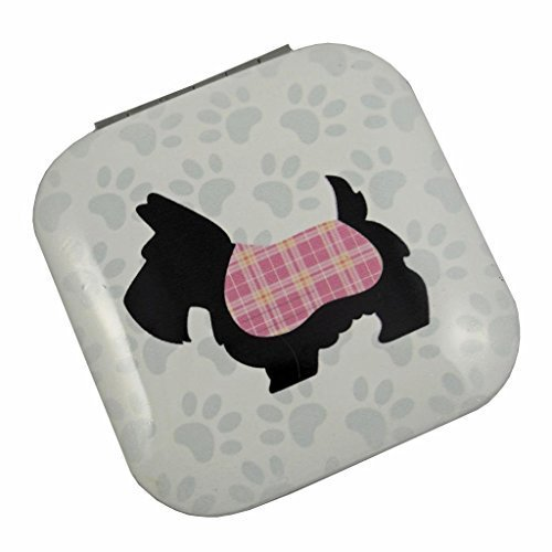 Square Mirror Compact by Lauren Billingham - Cute Scottie Dog Design - A