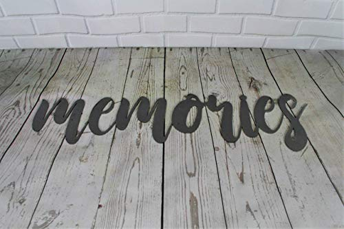 Raw Steel Unpainted Word Art - memories size small