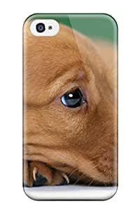 Stevenson Elizabeth's Shop New Style Defender Case With Nice Appearance (long Ears Brown Puppy) For Iphone 4/4s