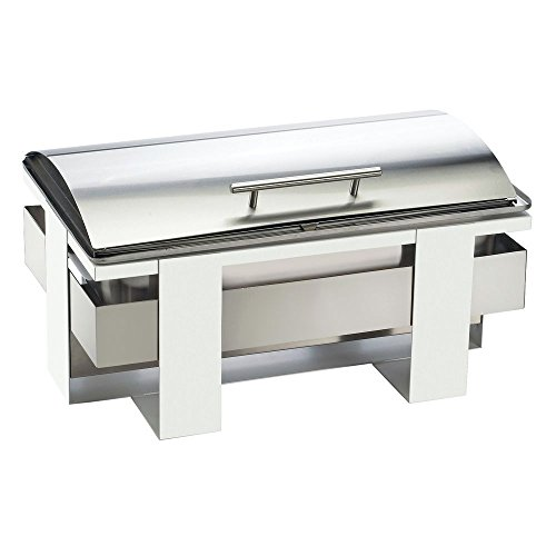 Cal Mil Roll Top Chafing Dish Luxe Full Size Silver