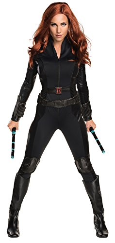 Secret Wishes Women's Marvel Universe, Captain America: The Winter Soldier, Deluxe Black Widow Costume, Multicolor, Small -