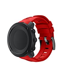 For Suunto Ambit3 Vertical, Kingfansion New Fashion Sports Silicone Bracelet Strap Band (Red)