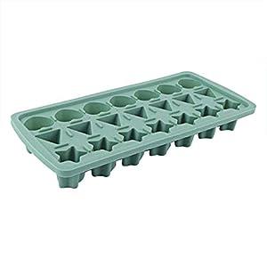 UMTGE - Vaschetta per cubetti di ghiaccio, in silicone e flessibile, 21 vassoi per ghiaccio per bambini, con caramelle… 19 spesavip