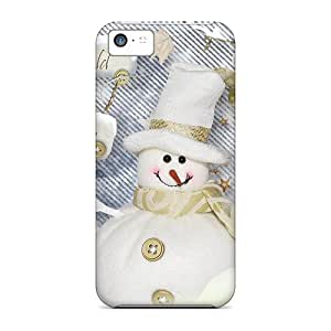 For Iphone 5c Premium Cases Covers Winter Fun Snowman Protective Cases