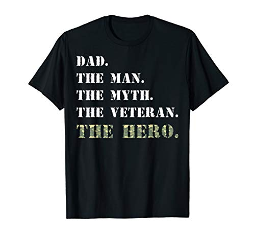 Dad The Man Myth USA Veterans Day Camouflage