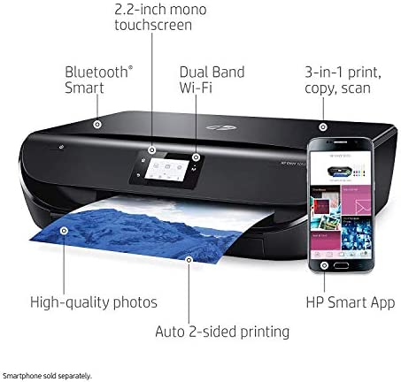 HP ENVY 5055 Wireless All-in-One Photo Printer, HP Instant Ink, Works with Alexa M2U85A