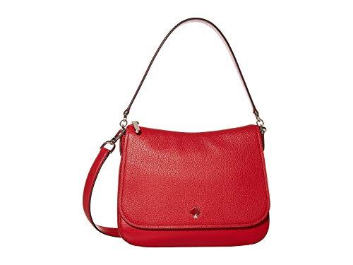 Kate Spade New York Polly Medium Convertible Flap Shoulder Bag Hot Chili...