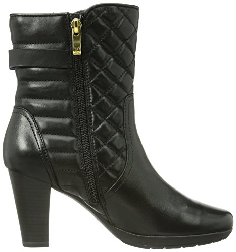 Caprice Britney-B-10K-9 9-9-25305-23 001 Damen Kurzschaft Stiefel Schwarz (1 BLACK)