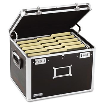 Locking File Chest Storage Box, Letter/Legal, 17-1/2 X 14 X 12-1/2, Black -