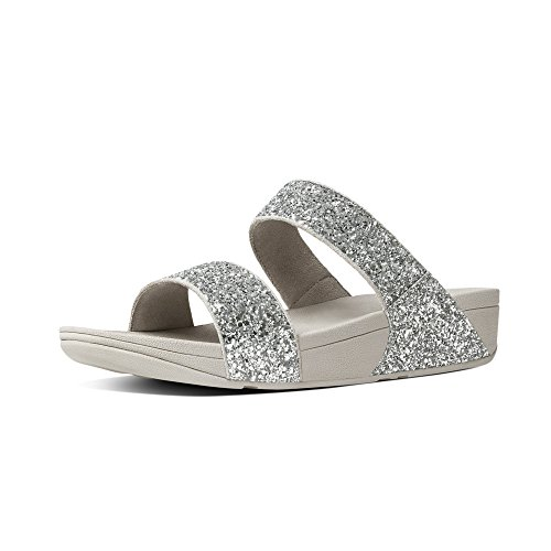 Plateado Fitflop Sandalias Para Glitterball silver Mujer Con Slide Plataforma 07Hqr0w