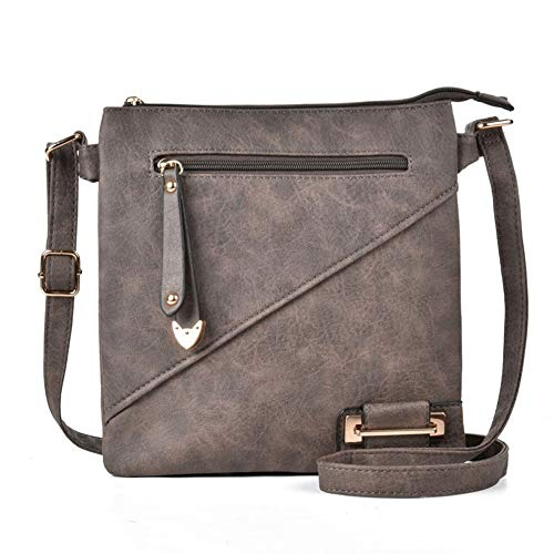 d4a70847f Medium Size Solid Modern Classic Crossbody Bag with Gold Plate ...