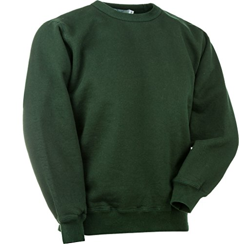 JustSweatshirts Unisex 100% Cotton Crewneck Sweatshirt - Park Green - - Sweatshirts 100 Cotton