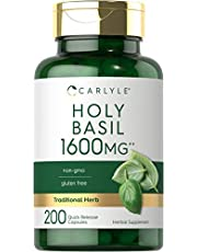 Carlyle Holy Basil 1600 mg   200 Capsules   Holy Basil Leaf Extract   Herbal Supplement   Non-GMO, Gluten Free