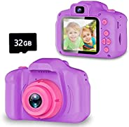 Seckton Kids Selfie Camera, Best Birthday Gifts for Girls Age 3-9, HD Digital Video Cameras for Toddler, Porta