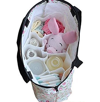 M PriMI Cute Baby Diaper Nappy Changing Storage Bag Cell Divider Mother Bag