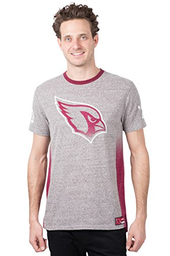 Shorts Classic Football (Icer Brands NFL Arizona Cardinals Men's T-Shirt Vintage Ringer Short Sleeve Tee Shirt, Small, Gray)