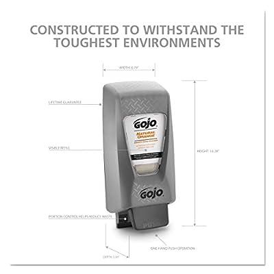 GOJO PRO TDX 2000 Push-Style Hand Soap Dispenser, Grey, Dispenser for GOJO 2000 mL Heavy Duty Soap Refills - 7200-01