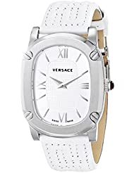 Versace Womens VNB020014 COUTURE Stainless Steel Watch with White Leather Band