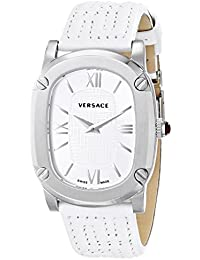 Women's VNB020014 COUTURE Stainless Steel Watch with White Leather Band