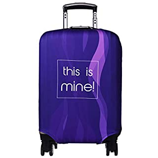 Travel Luggage Cover Anti-scratch Baggage Suitcase Protector Cover Fits 18-32 Inch 3D Pattern(Purpel)
