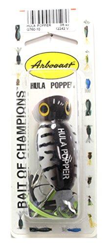 Arbogast Hula Popper - Coach Dog - Black/Chartreuse Skirt - 2