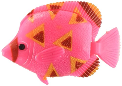 uxcell Plastic Tropical Fish Aquarium Decoration, Pink/Yellow