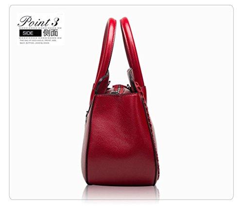 Sucastle ® 2018 Borsa a tracolla da donna / vera pelle / Retro / Grande capacità / multifunzione / impermeabile /(19*14.5*24cm )
