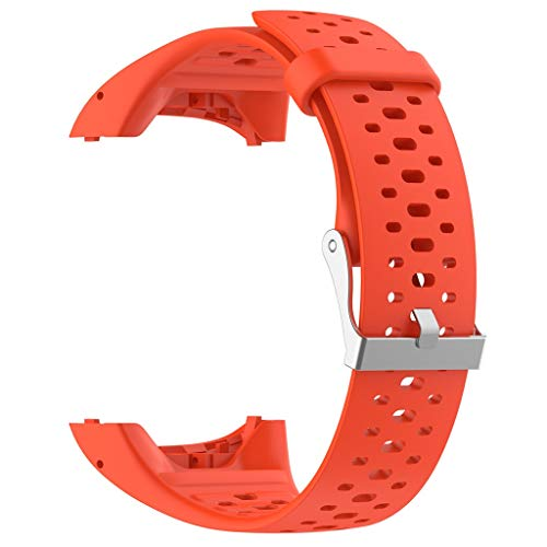 Price comparison product image Sport Soft Silicone Watch Band Replacement Band Strap for for Polar M400 M430 Orange