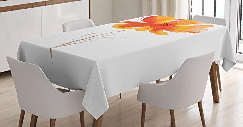 Watercolor Tablecloth Ambesonne Background Rectangular