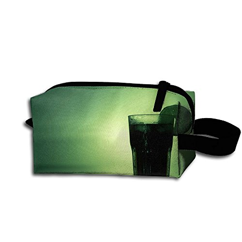 Makeup Cosmetic Bag Green Art Cocktail Zip Travel Portable Storage Pouch For Men -