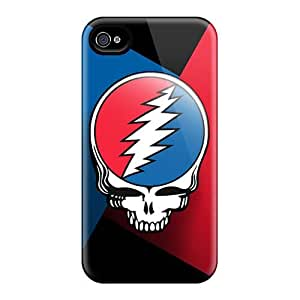 Shock Absorbent Hard Cell-phone Case For Apple Iphone 4/4s With Allow Personal Design HD Grateful Dead Image Hardcase88