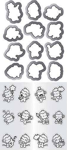 "Mama Elephant Clear Stamp & Die Set 4.125""X10.5""-Mini Monkey"