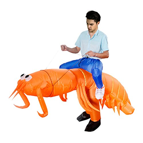 Tricandide Unisex Adult Inflatable Suit Halloween Costume Cosplay Funny Fancy Blow Up Outfit (Toddler Shrimp Halloween Costume)