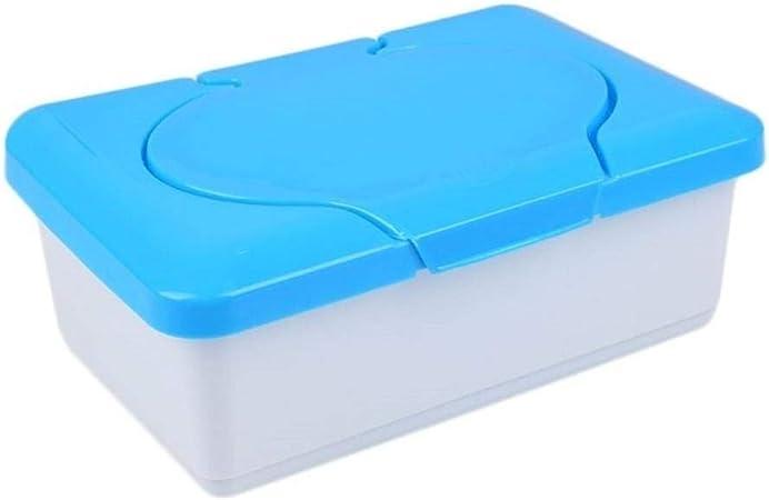 Caja de papel tisú seco y húmedo Estuche de plástico Estuche de tisú real Toallitas para