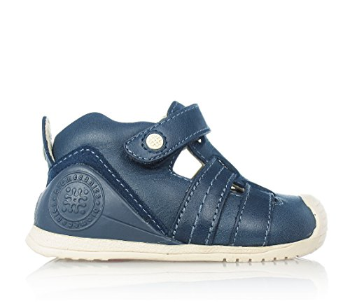 Garvalin Childrens Shoes - Garvalin Azul Navy Leather Closed Toe Sandals with Arch and Ankle Support (US 2.5-3.5 / EU 18)